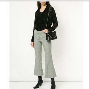 ROBERT RODRIGUEZ STUDIO Checked Cropped Trouser
